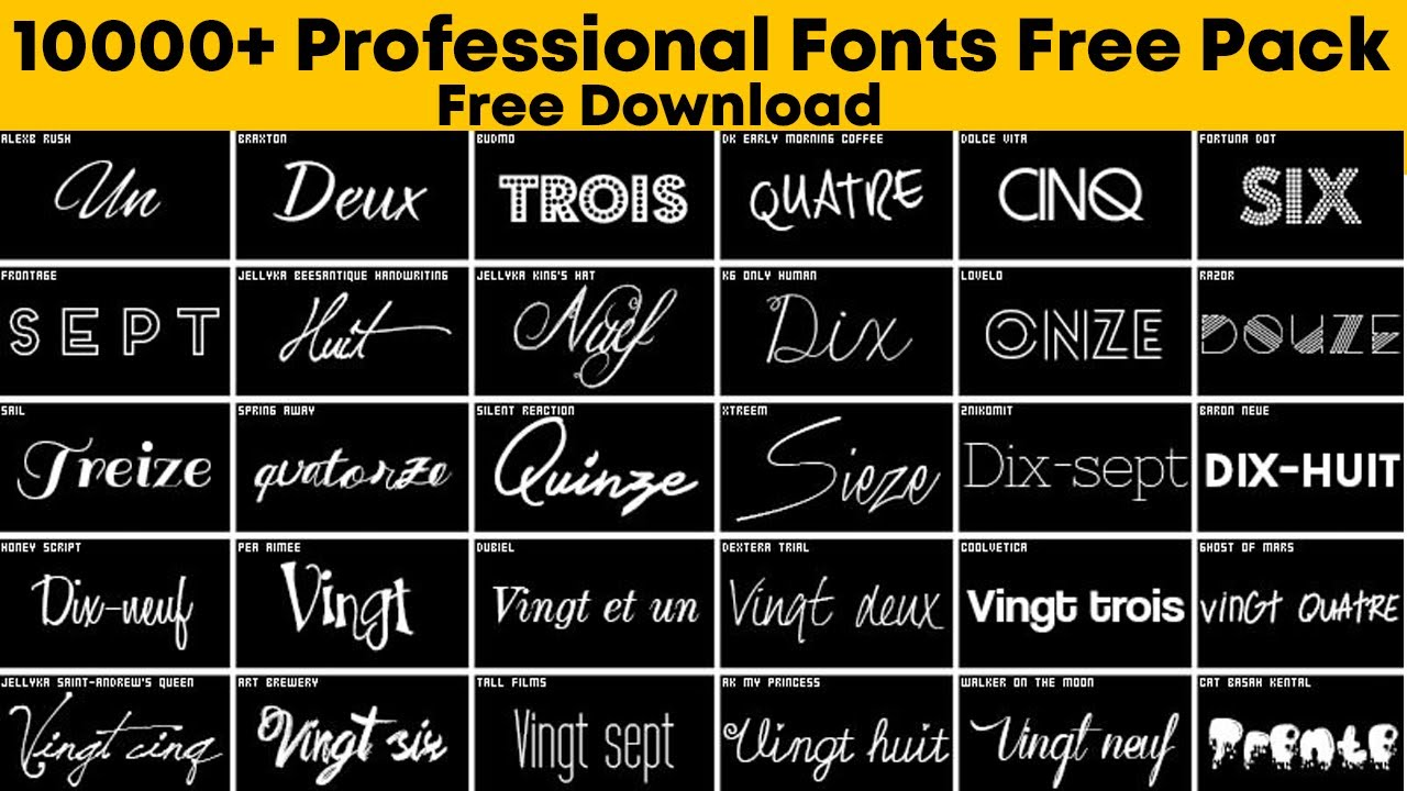 Download 10000+ Professional Fonts Pack Free Download - The Sheri Sk
